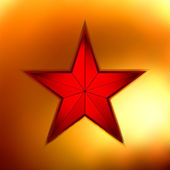 Illustration of a Gold star on red. EPS 8 — Stock Vector