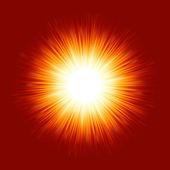 Sunburst rays of sunlight. EPS 8 — Stock Vector