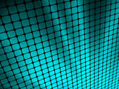 Blue rays light 3D mosaic. EPS 8 — Stock Vector