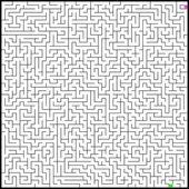 Vector illustration of perfect maze. EPS 8 — Stock Vector
