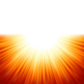 Sunburst rays of sunlight tenplate. EPS 8 — Stock Vector