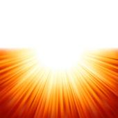 Sunburst rays of sunlight tenplate. EPS 8 — Stock Vector