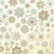 Template Retro Snowflakes background. EPS 8 — Stock Vector
