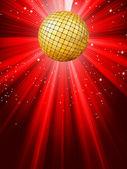 Sparkling red disco ball. EPS 8 — Stock Vector