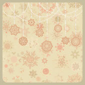 Colorful retro snowflake pattern. EPS 8 — Stock Vector