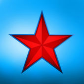 Illustration of a red star on blue. EPS 8 — Stock Vector