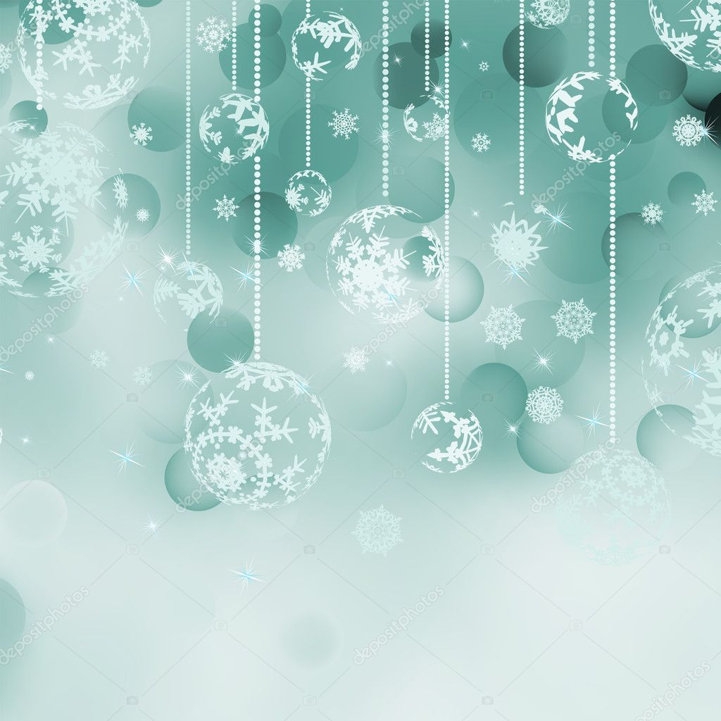 Christmas bokeh background with baubles. EPS 8 vector file included  Stock Vector #9843112