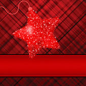 Christmas stars on red background. EPS 8 — Stock Vector