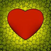 Liefde vector gemaakt van groene hart. eps 8 — Stockvector