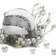 Beautiful christmas composition is isolated on a white background — Stock Photo