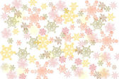 Many-colored snowflakes — Stock Photo