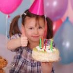 Wonderful little girl celebrates her Birthday — Stock Photo #9726817