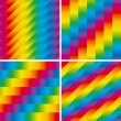 Set of four seamless rainbow patterns — ストックベクタ