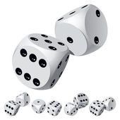 Dice rolls — Stock Photo