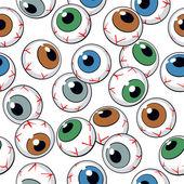 Bezszwowe tło oczy — Wektor stockowy