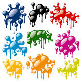 Set of Color Blots — 图库矢量图片