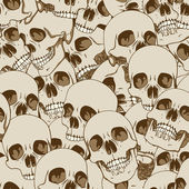 Human skulls seamless background — Stock Vector