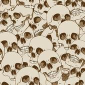 Human skulls seamless background — Stock Vector