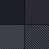 Carbon fiber seamless patterns set — Stock Vector