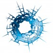 Stock Vector: Bullet Hole