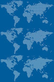 Cartes du monde en pointillé — Vecteur