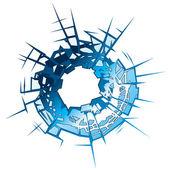 Bullet Hole — Stock Vector