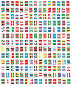 Collection of All The Flags of the Earth Vector — Stock Vector