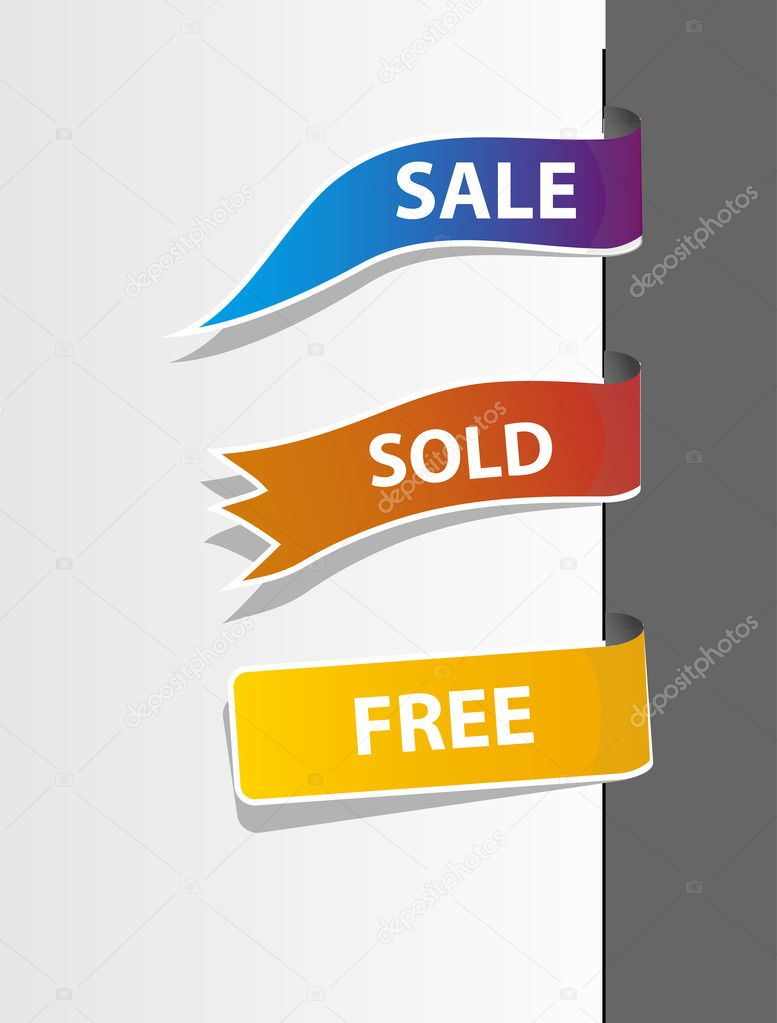 Set of tag labels. Vector illustration — Stock Vector #8057721