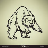 Bear vector illustration — Vettoriale Stock
