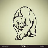 Bear vector illustration — Vector de stock