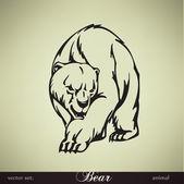クマのベクトル図 — ストックベクタ