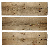 Old wood boards isolated on white background — Stock Photo