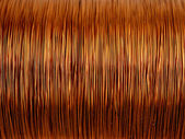 Background of copper wire — Stock Photo
