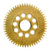 Gear isolated on white background — Zdjęcie stockowe