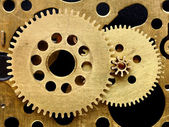 Old mechanism with gears closeup — Stock Photo