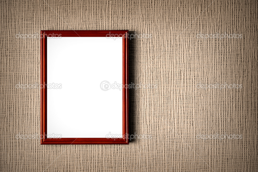 Old Wooden Picture Frames Old Wooden Photo Frame on Wall