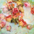 Dry roses beautiful vintage background - Stockfoto