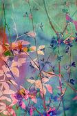 Fond grunge décoratifs avec des feuilles naturelles — Photo