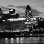 London modern architecture at night — Stock Photo