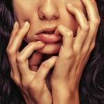 Closeup detail girl face — Stock Photo