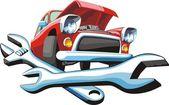 Car repair — Stock Vector