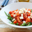 Royalty-Free Stock Photo: Greek Mediterranean salad with feta cheese, olive oil and tomato