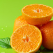 Fresh juicy tangerine, mandarin orange - Stock Photo