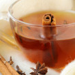 Tea with spices - cinnamon, a carnation and an anise — Stock Photo #8705258