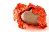 Chocolate heart for Valentine Day — Stock Photo