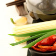 Stock Photo: Soy sauce in bowl with chopsticks