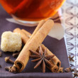 Tewith spices - cinnamon, carnation and anise — Stock Photo #8840837