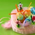 Easter quail eggs — Stock Photo