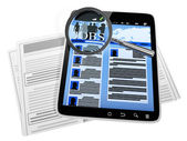 Tablet PC, a site for job search — Stock Photo