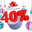 Christmas Gift forty percent discount — Stock Photo #8712443
